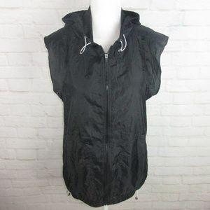 Fabletics Black Windbreaker Oversize Vest